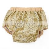 New design kids clothing both side sequin bloomer wholesale baby outdoor hot sequin diaper cover