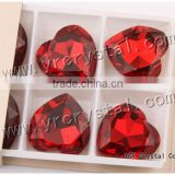 4827 Crystal Beads 28mm Siam Color Red heart glass gemstone