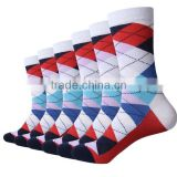 Men High Quality Custom Colorful Combed Cotton Dress Business Socks,OEM Business Happy Men Socks