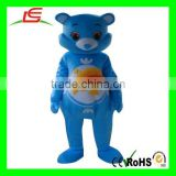Blue Rainbow Adult Care Bear Cartoon Mascot Costumes