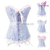 Light blue sexy girls photos open full body corsets for women