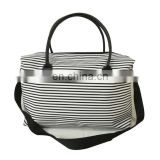 stripe printing custom weekend tote bag for promotion