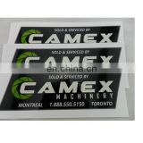 custom adhensive sticker transparent packing printing label