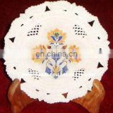 White Marble Inlay Plate, Handmade Marble Inlay Plate