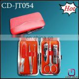 6pcs red hot promotion pu manicure tool set CD-JT054