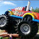 High quality monster truck combo bounce house slide combo for birthday party