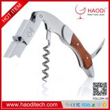 Waiters Corkscrew,Professional Stainless Steel with Rosewood Inlay All-in-one Corkscrew, Bottle Opener and Foil Cutter,
