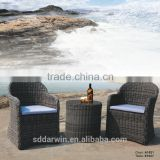 Rattan Round Table and Wicker Chair for Balcony Furniture Set A-1021                                                                         Quality Choice