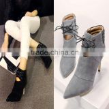 C89225A Women Genuine leather Ankle Boots lady Boots Lady shoes big size genuine leather shoes