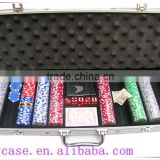 professional poker chip metal case in round corner aluminum case for 1000 poker chip case