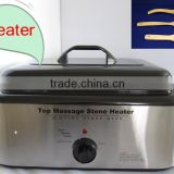 Salon & Spa use 18 Q hot massage stone heater with CE RoHS