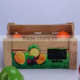 unique painted storage fruits/vegetable storage wooden box / wooden crate for home, shop, market