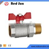 HR2090 factory manufacture brass water&gas with connector ball valve
