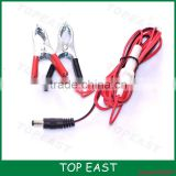 RED Black booster clamps jump lead cable battery clip charging covered with fuse protect