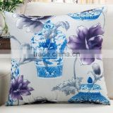 Vase and flower design cushion for car , seat ,home decoration