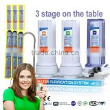 activated carbon type pre-filtration countertop kitchen water filter tap water purifier for home PP+GAC+CTO