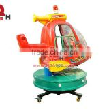 Orange Funny Coin Operated Rotary Lifting Children Airplane Kiddie Ride
