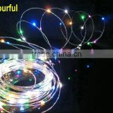 5m Warm White Copper Wire Christmas Outdoor String Fairy Light for party Xmas Decoration DC12V