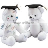 Plush Toy Autograph Graduation Bear /Stuffed Animal Toy Graduation Gift/Soft Bear to Sign for Graduation