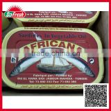 Most popular exporting ingredient fish tin canned sardine fish in chili                                                                         Quality Choice