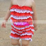 Fashion Design cotton sleeveless girls romper summer flower baby rompers wholesale cute pants