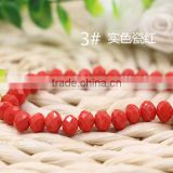 Solid Jade Red 2mm to 12mm AAA Quality Wholesales Fashion Loose Crystal Facted Roundelles Glass Beads for Jewelry Cheapest