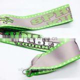 Custom one time use festival polyester wristband with plastic lock