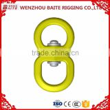 2016 hot sale China Supplier stainless steel colorful double metal snap swivel hook,Silver Sailboat Double Round Eye
