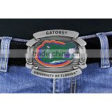 "Lead & Nickel Free University Of Florida ""Gators"" Logo Silver Tone Belt Buckle"