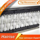 Top sale conveyor linear neck guide rail with plastic rollers