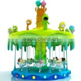 Theme park amusement games/outdoor luxury sweety candy carousel rides children rides for sale