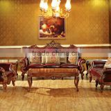 living room furniture sofa set / 2015 newest classical leather sofa in Turkey / antique chesterfield french leather sofa HS27