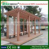 Garden furniture pergola metall for cheap pergola made of eco-friendly wood plastic composite deck