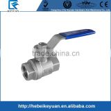 China Factory of CF8/CF8M Two Piece Ball Valve Full Bore 1000PSI