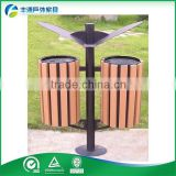 Hot sale Eco-Friendly recycling outdoor decorative garbage bin, trash can, plastic wooden waste bin