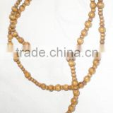jewelry, wood beads rosary cross handmade beads necklace