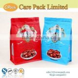 Food grade customized plastic aluminum foil ziplock dry food flat bottom bag                                                                                                         Supplier's Choice