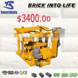 QT40-3A used clay brick extruder machine, brick cleaning making machine hollow brick making machine