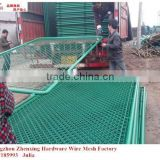 Hot promotion China Alibaba supplier wholesale PVC coated galvanized chain link fence with best price ZX-GHW16