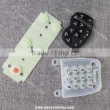 Easy To Clean Conductive Silicone Rubber Keypad Remote Control Silicone Button Switch