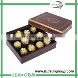 Attractive oem service empty chocolate truffle box