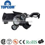 Rechargeable Power 3 LED Bright Cycling Bike Front Light and Headlamp                                                                         Quality Choice                                                     Most Popular