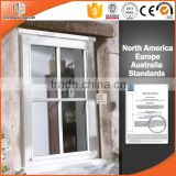 Australian standard wooden color French casement window grill design for windows                                                                                                         Supplier's Choice