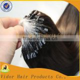 6A Grade Fashion Keratin Fusion Loop Tip Hair 100% Cheap Indian Remy Micro Loop Ring Human Hair Extension