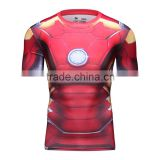 China Summer Men's Marvel Superhero sublimation T Shirt Wholesale Manufacturer Guangzhou Clothing Mens Cycling Shirt
