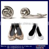 Promotion Ladies Casual Folding Ballet Shoes with Matching Bag for Wedding                                                                         Quality Choice