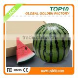 Customized Polyresin emulational watermelon food usb flash drive for summer