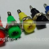 2mm banana socket panel type 2mm binding post red/black/yellow/blue/green/white banana jack