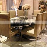 Arm dining chair from china JC11-02 for luxury dining room furniture- JL&C Furniture