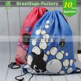 Lead Free Practical Recyclable Drawstring Bag/heavy duty cotton canvas drawstring backpack
